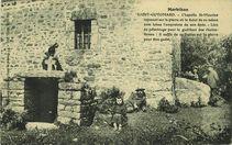 Chapelle St-Maurice reposant sur la pierre où le Saint de ce même nom laissa l'empreinte de son épée | Bailly Ch.