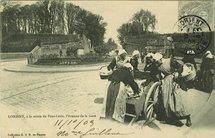LORIENT, à la sortie du Pont-Levis, l'Avenue de la Gare |