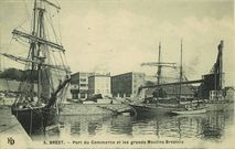 Port de Commerce et les grands Moulins Brestois |