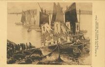 Le Pardon de l'Isle de Loaven Plougrescant, Trégor d'après le tableau d'E. Bouillé | Bouille Etienne
