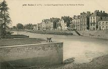 Le Quai Duguay-Trouin vue de l'Ecluse St-Nicolas |