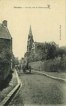 Arrivée, côté de Châteauneuf  