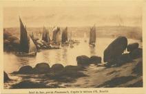Soleil du Soir, port de Ploumanac'h, d'après le tableau d'E. Bouillé | Bouille Etienne