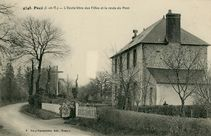 L' Ecole libre des Filles et la route du Pont |
