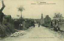 Le Bourg, vue de la Route de Guilliers | Bailly Ch.