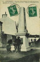 Monument d'Alain-le-Grand, Duc et Roi de Bretagne, vainqueur des Normands en 890, mort en 907. Erigé par l'Union Régionaliste Bretonne, le 21 Avril 1907  