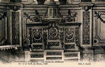 ST THEGONNEC (Finistère) - La chaise du célébrant due à Le Goff, de Brest, 1730 |