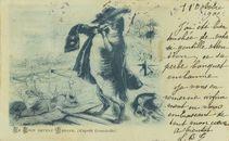 LE LOUP DEVENU BERGER, (d'après Grandville)