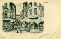 Rue de la Boucherie avec les auvents |