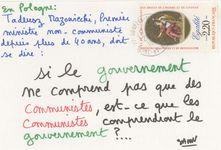 En Plogne : Tadeusz Mazowiecki, Premier ministre non-communiste depuis plus de 40 ans, doit se dire: si le gouvernement ne comprend pas que des communistes, est-ce que les communistes comprendront le gouvernement?...   Savon