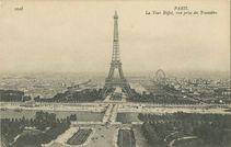 La Tour Eiffel, vue prise du Trocadéro | Neurdein