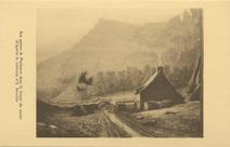 Les gorges de Poulancre dans la brume du matin, d'après le tableau d'E. Bouille. | Bouille Etienne
