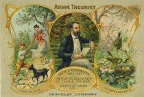 ANDRE THEURIET POETE & ROMANCIER 1833-1907 AUTEUR DE BLEU & NOIR LE CHEMIN DES BOIS LES NIDS, LES OISEAUX ETC... CHOCOLAT LOMBART |