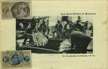 Iles Saint-Pierre-et-Miquelon - Un chargement de morues  