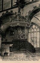 SAINT-THEGONNEC (Finistère).- La Chaire due à François et Guillaume Lerrel, de Landivisiau, 1683-1722 |