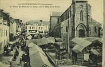 La Place du Marché au beurre et la Rue de la Poste |