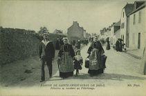 Pélerins se rendant au Pèlerinage | Neurdein