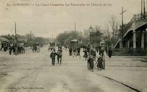 Le Cours Chazelles. La Passerelle du Chemin de fer. |
