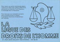 LA LIGUE DES DROITS DE L'HOMME  