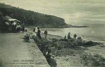 La Pointe de Chatern, vue prise de l'Anse de la Vierge |