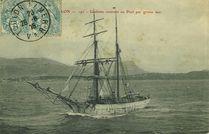 Goëlette rentrant au Port par grosse mer | Giraud