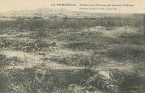 LA POMPELLE - Cadavres allemands devant le Fort |