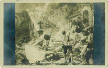 LES DERNIERS CHOUANS DEVANT Ste BARBE-AU-FAOUET. MORBIHAN | Duval J.M.