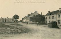 La Place, côté Nord et route de Bains |