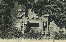 Ruines du Château de Perrien (Détail d'une cheminée) |