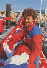 Jean MAUREL skipper du catamaran ELF AQUITAINE |