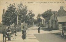 Faubourg Saint-Helier, le calvaire et la route de Vern |