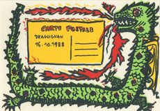 CARTE POSTALE | Le DRAGON PIRATE