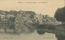 Le Faubourg d'Alsace, vu de la Passerelle |