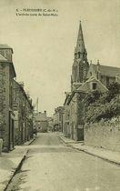 L'arrivée route de Saint-Malo  