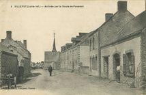 Arrivée par la Route de Pouancé |