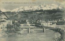 Panorama des Quais et les Alpes  