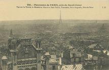 Panorama de PARIS, pris du Sacré-Coeur |