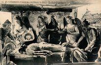 ST-THEGONNEC (Finistère) - Le Sépulcre, oeuvre de Jacques LESPAIGNOL (1702) |