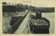 Couronnement du Barrage vu de la prise d'eau |
