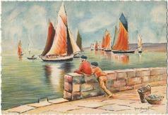 Départ pour la pêche | Breuillot André