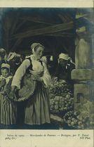Marchandes de Pommes - Bretagne, par P. Pascal | Pascal Paul