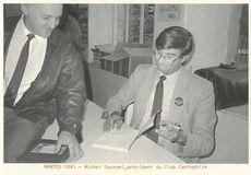 Michel Douxami, président du Club Cartophile   Kervinio Yvon