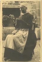 La Femme du pêcheur, d'après le tableau d'E. BOUILLE | Bouille Etienne