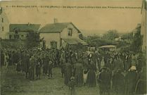 Le départ pour Coëtquidan des Prisonniers Allemands |