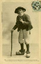 Le Sorcier de la montagne Laouic Coz racontant ses conchenous vieilles histoires bretonnes (Etude des costumes de Bretagne Saint-Thois) |