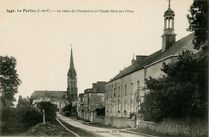 La route de Mondevert et l'Ecole libre des Filles |