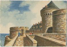 SAINT-MALO - La Tour Qui-Qu'en-Grogne et le Petit Donjon | Barday