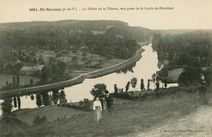 La Vallée de la Vilaine, vue prise de la Levée de Pléchâtel |