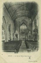 La Nef de l'Eglise Saint-Sauveur   Nd