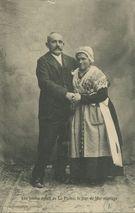 Les jeunes époux de La Plaine, le jour de leur mariage |
